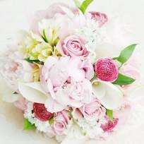 [FL74] Soft Pink Poeny Bouquet