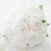[FL52] White Peony Bridal Bouquet