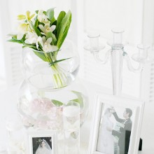 Wedding Photo Table Deco
